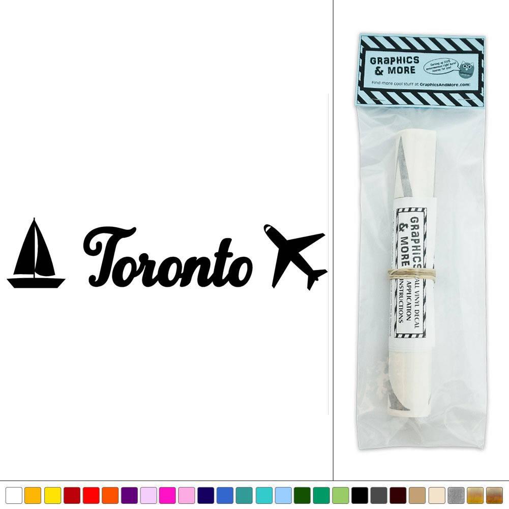 Toronto Canada Travel Vacation Vinyl Sticker Decal Wall