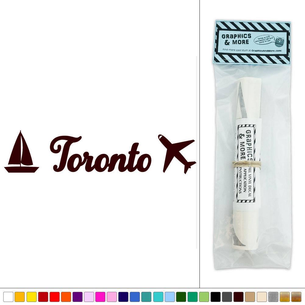 Toronto Canada Travel Vacation Vinyl Sticker Decal Wall Art D Cor Ebay