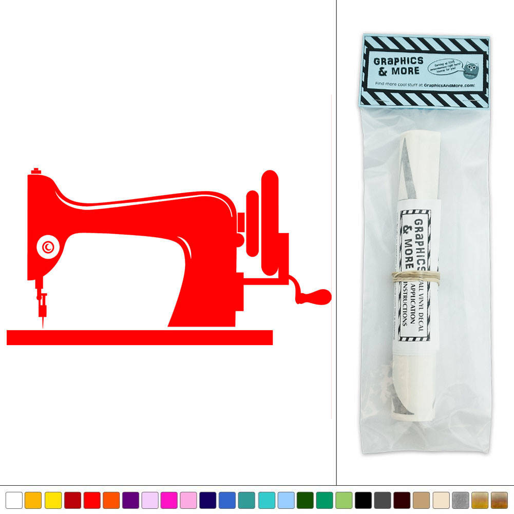 Sewing Machine Old Fashioned Tailor Vinyl Sticker Decal