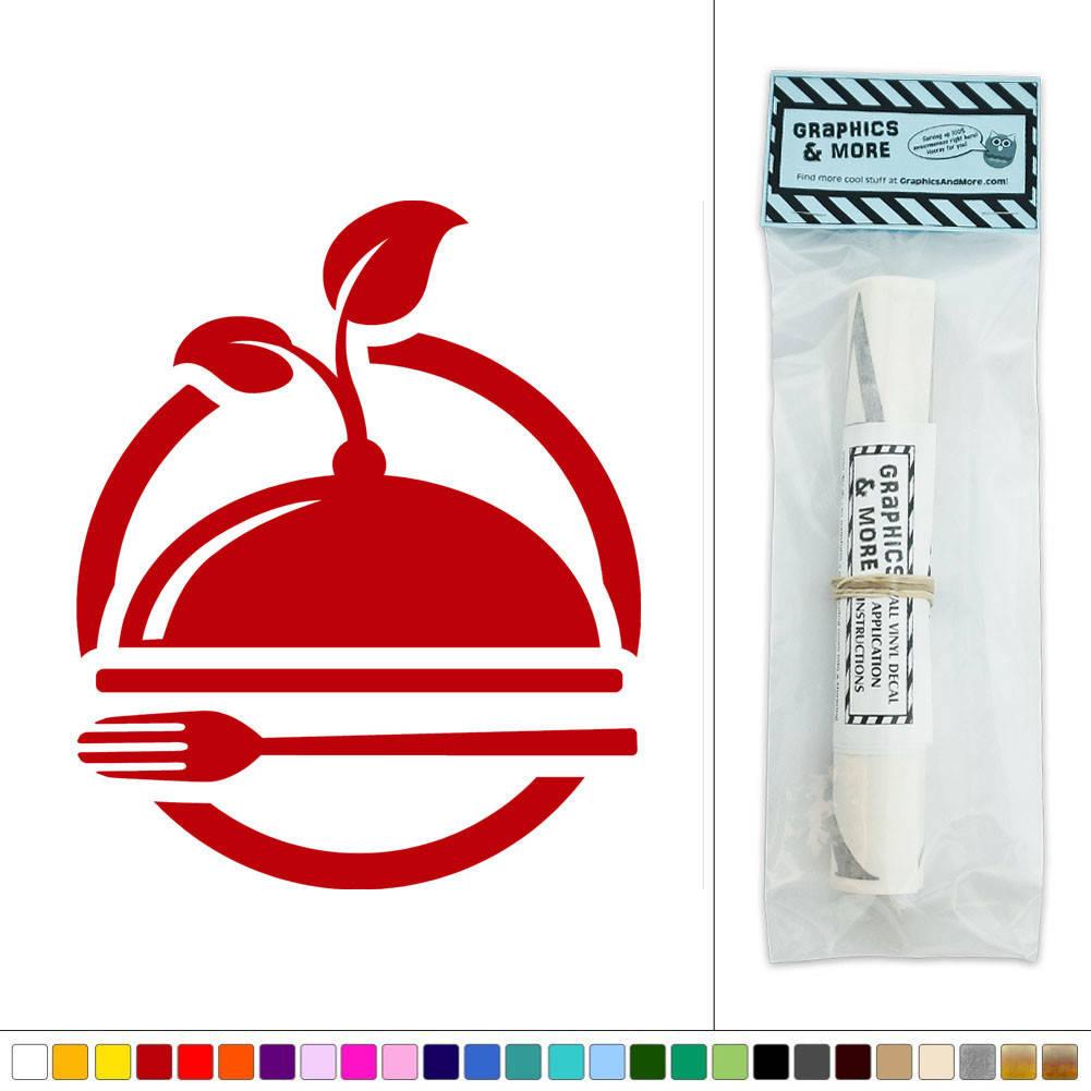 Wall Art Stickers Green : Organic green foods restaurant icon vinyl sticker decal