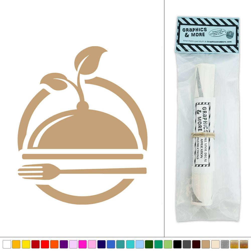 organic green foods restaurant icon vinyl sticker decal. Black Bedroom Furniture Sets. Home Design Ideas