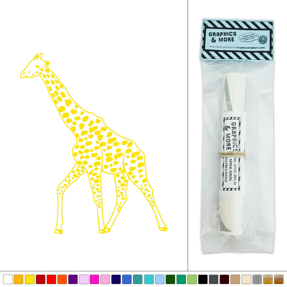 Giraffe African Animal Zoo Safari Vinyl Sticker Decal Wall Art Décor ...