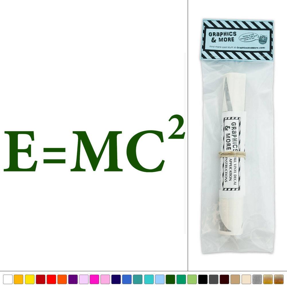 E equals mc equation mass energy relativity vinyl sticker