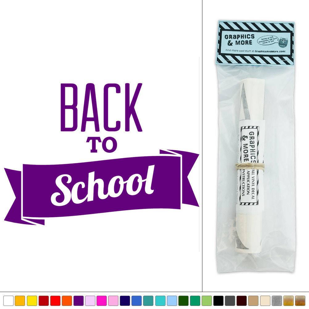 Back to school teacher education vinyl sticker decal wall for Back to school wall decoration