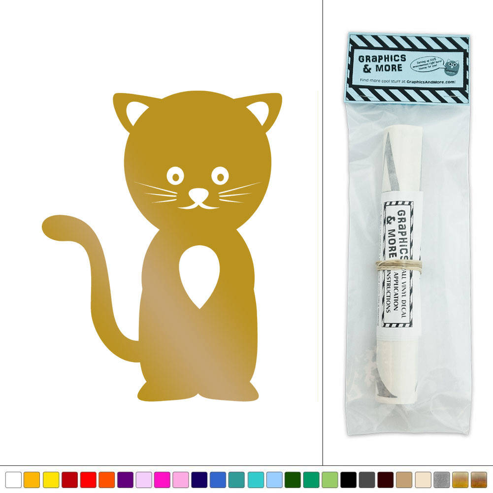 Cute Cat Pet Animal Cartoon Vinyl Sticker Decal Wall Art Décor | eBay