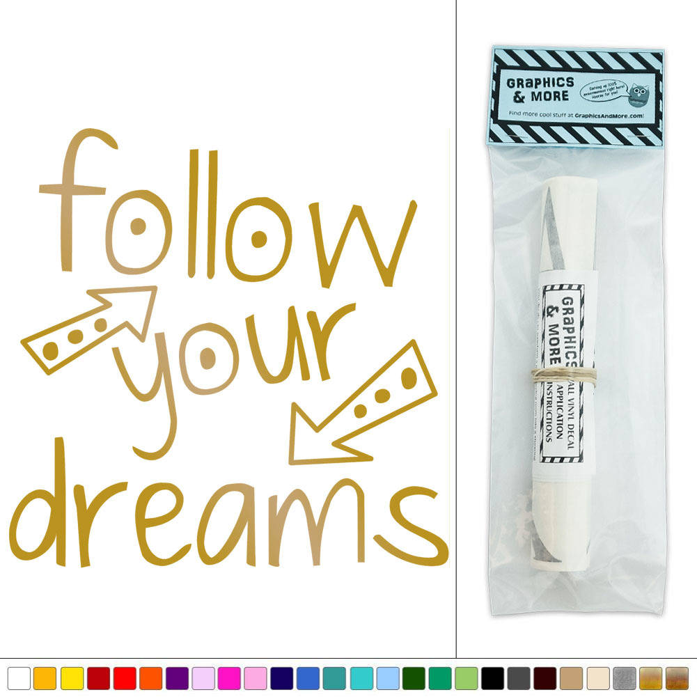 Sticker Follow your dreams flèches - TenStickers