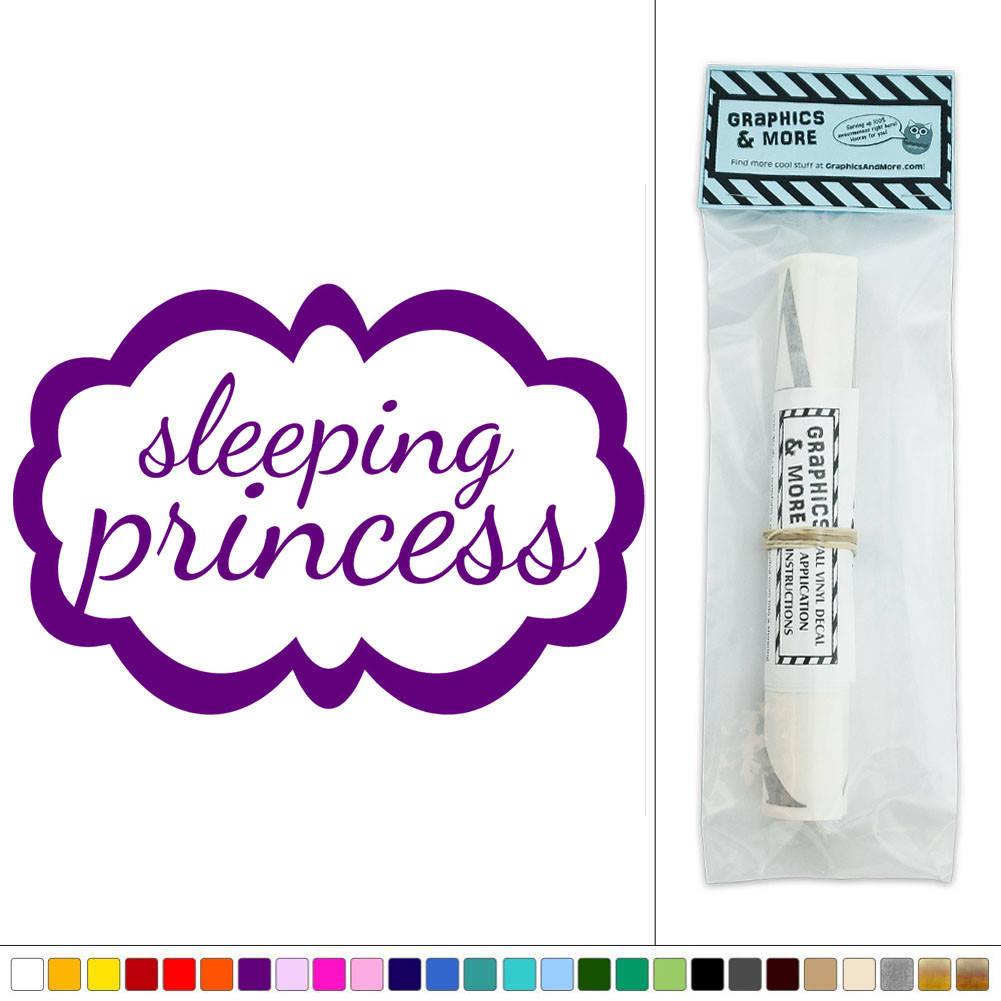 sleeping princess frame girl vinyl sticker decal wall art dealdey princess castle wall art sticker