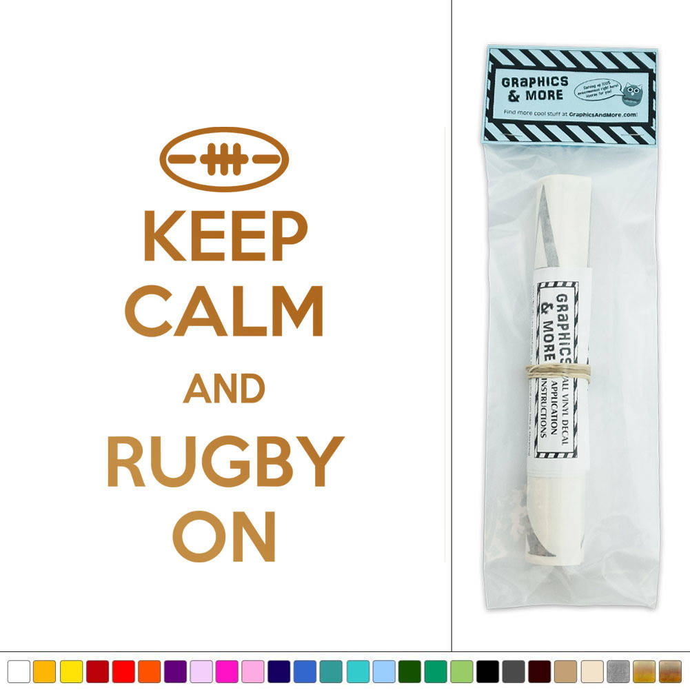 Keep Calm And Rugby On Vinyl Sticker Decal Wall Art Décor