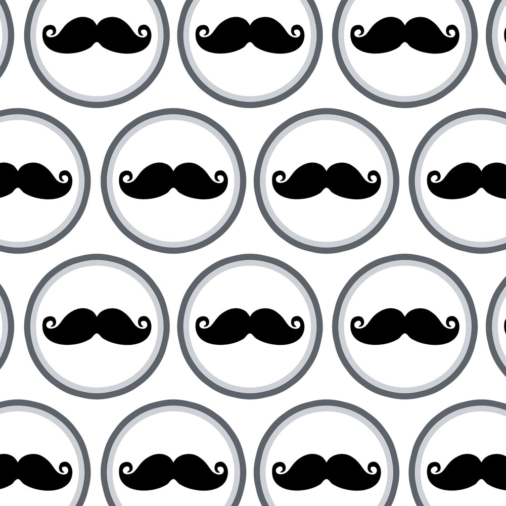 Premium Gift Wrap Wrapping Paper Roll Funny Nerdy Mustache