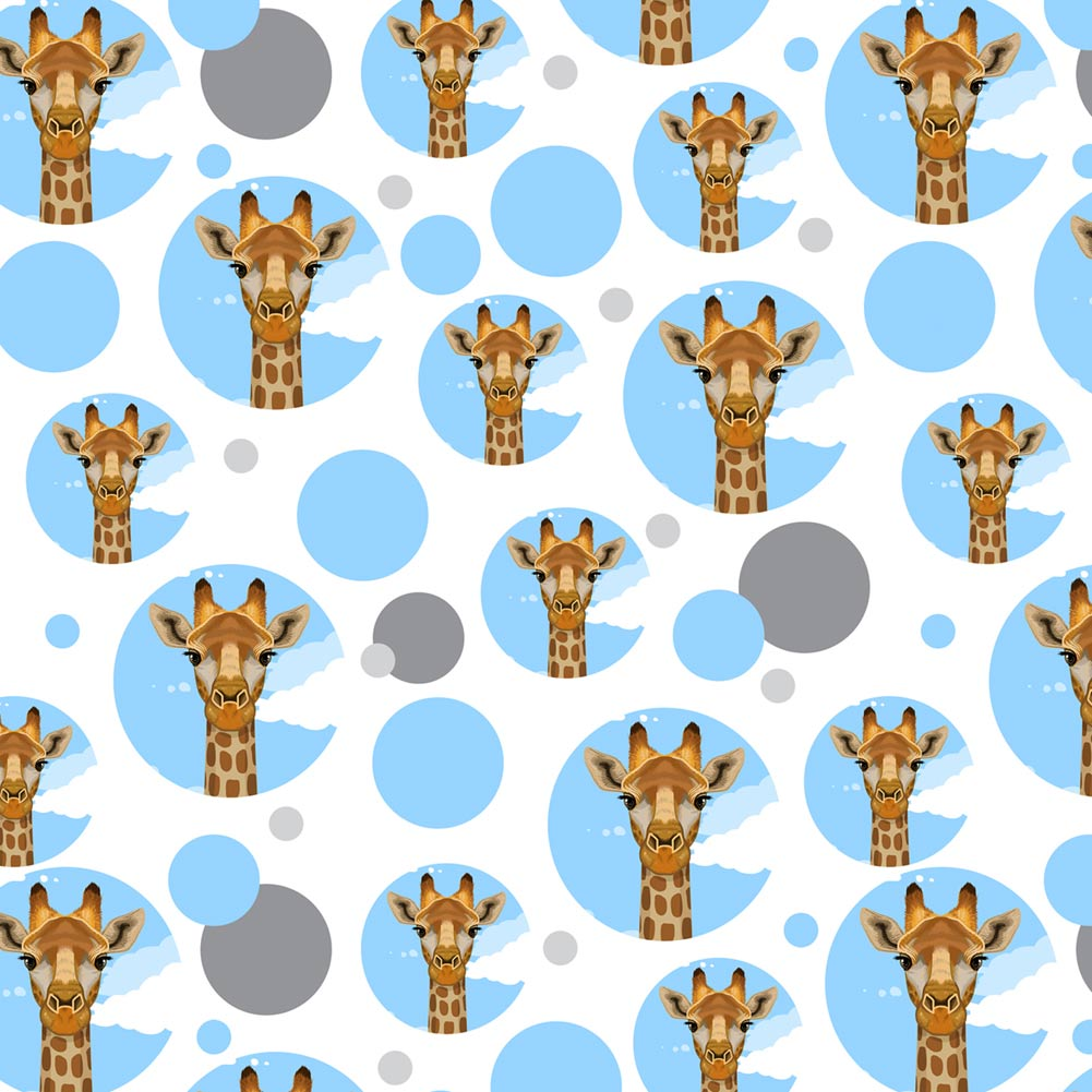 premium gift wrap wrapping paper roll pattern animals going on