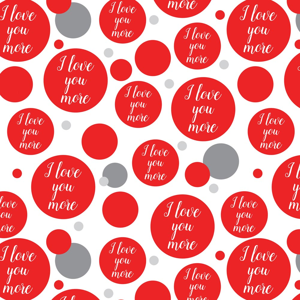premium gift wrap wrapping paper roll pattern i love you more script
