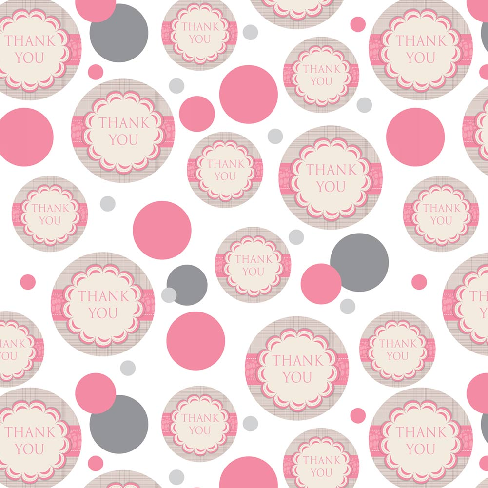 Premium Gift Wrap Wrapping Paper Roll Pattern Thank You