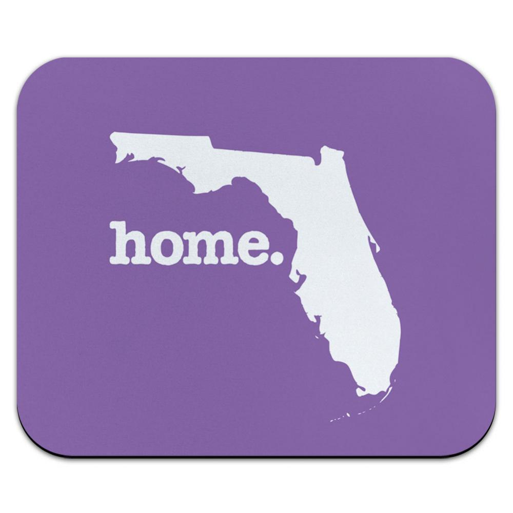 Florida FL Home State Mouse Pad Mousepad - Solid Lavender Purple