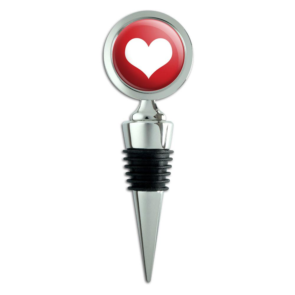 Heart Love Wedding Bridal Valentines Anniversary Wine Bottle Stopper