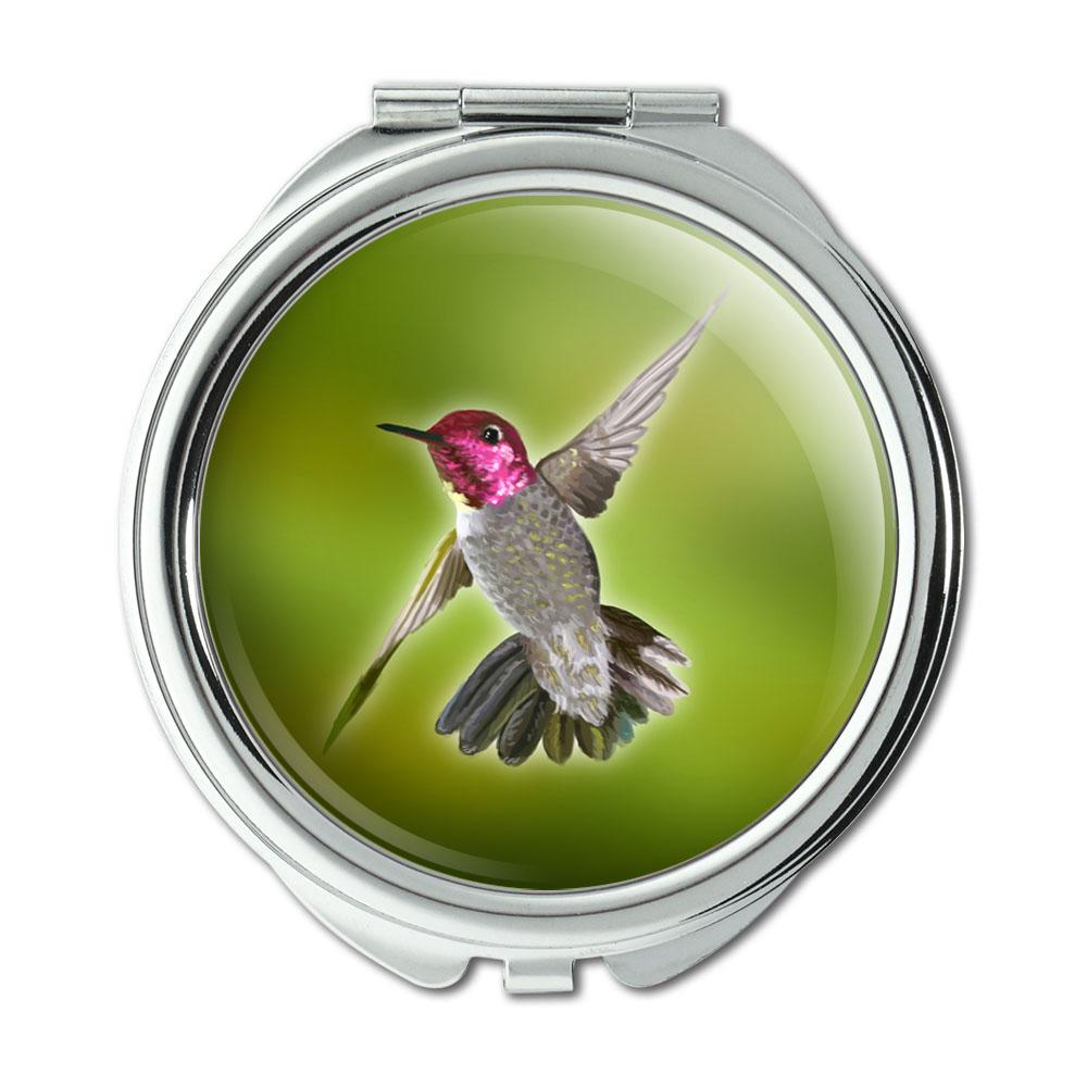 Hummingbird Bird Compact Purse Mirror