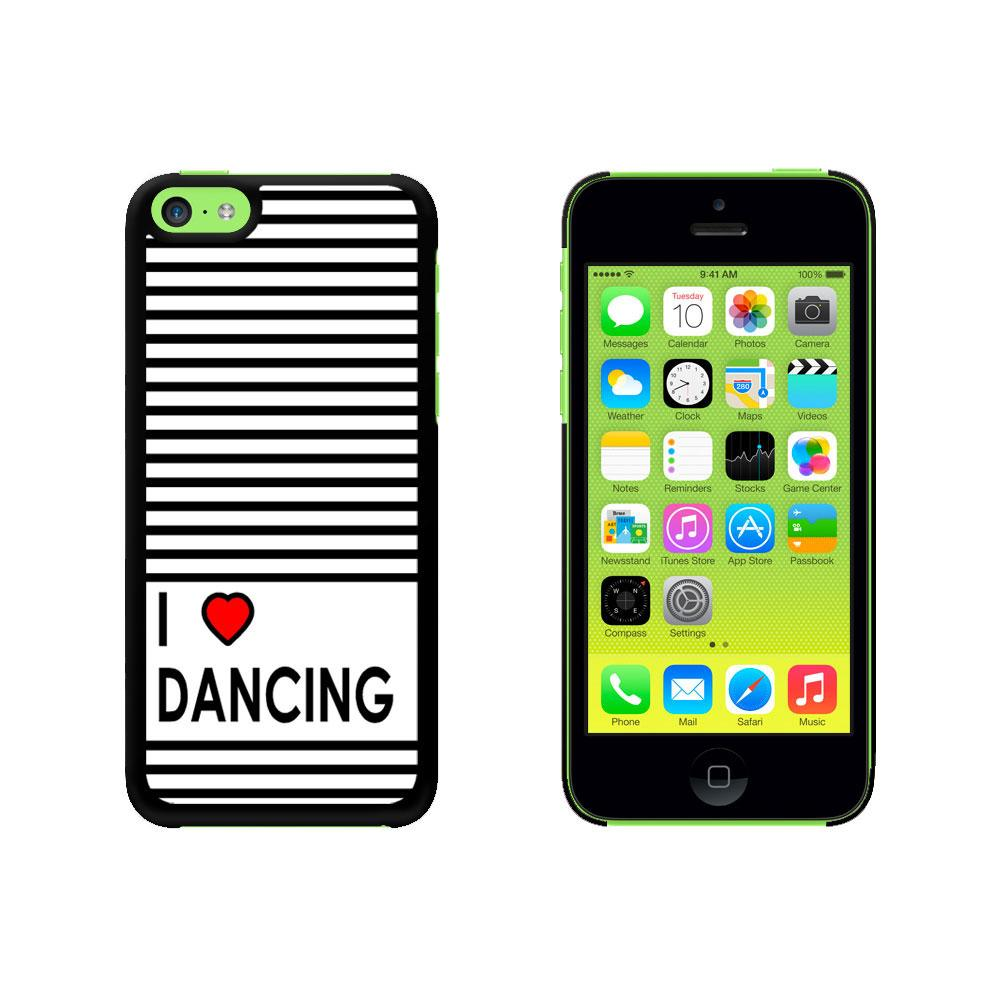 I Love Heart Dancing Case for Apple iPhone 5C