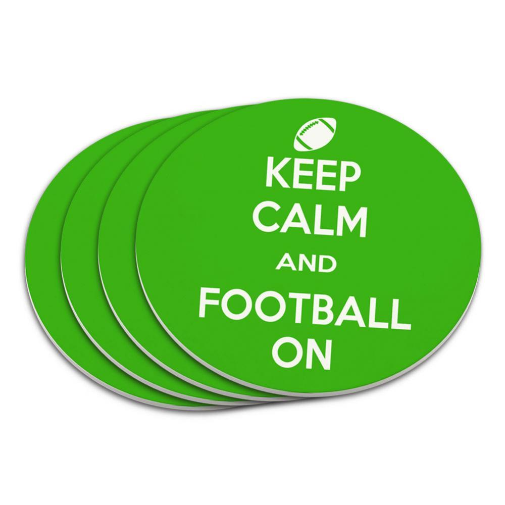 Keep Calm And Football On Sports Coaster Set