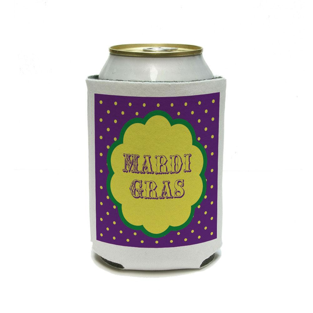 Mardi Gras - Celebration New Orleans Can Cooler Drink Insulator Beverage Insulated Holder