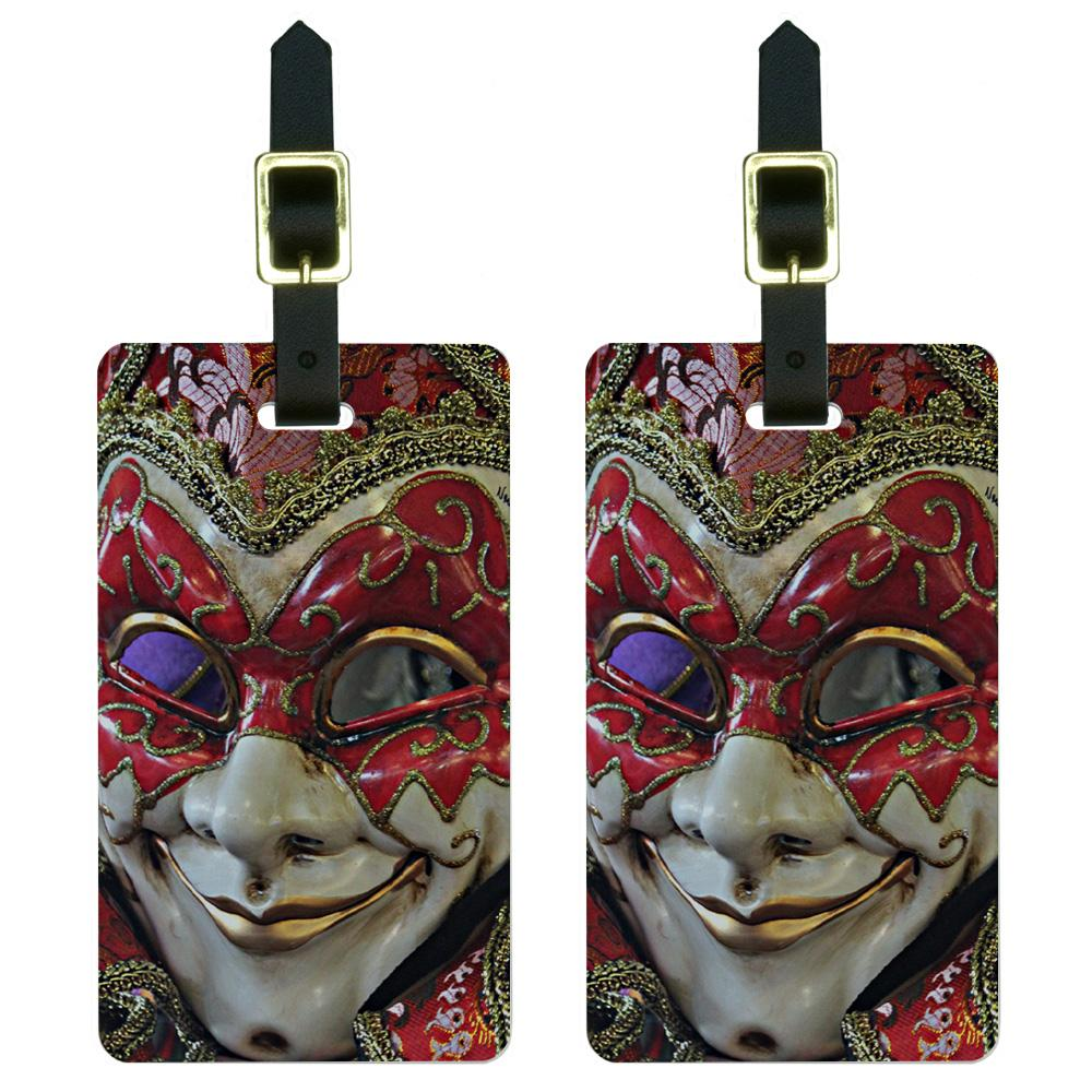 New Orleans Mardi Gras Mask Luggage Tag Set