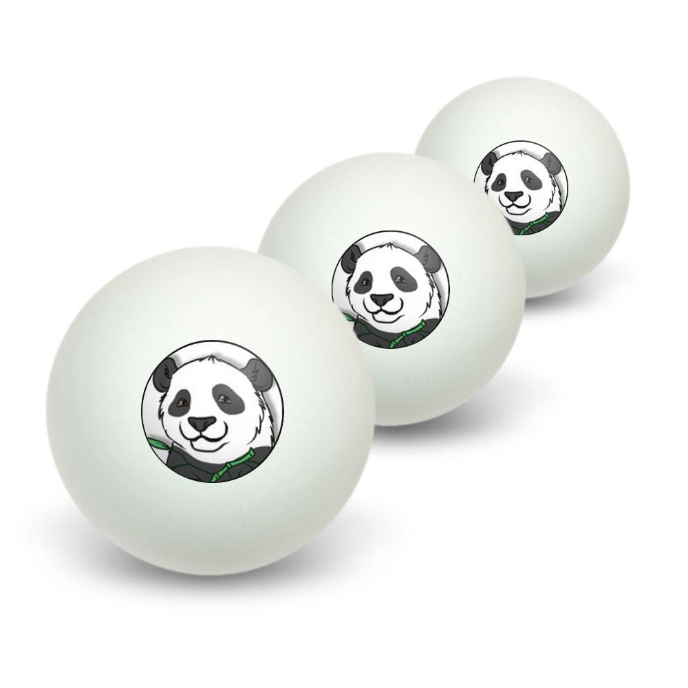 Panda Bear Novelty Table Tennis Ping Pong Ball 3 Pack