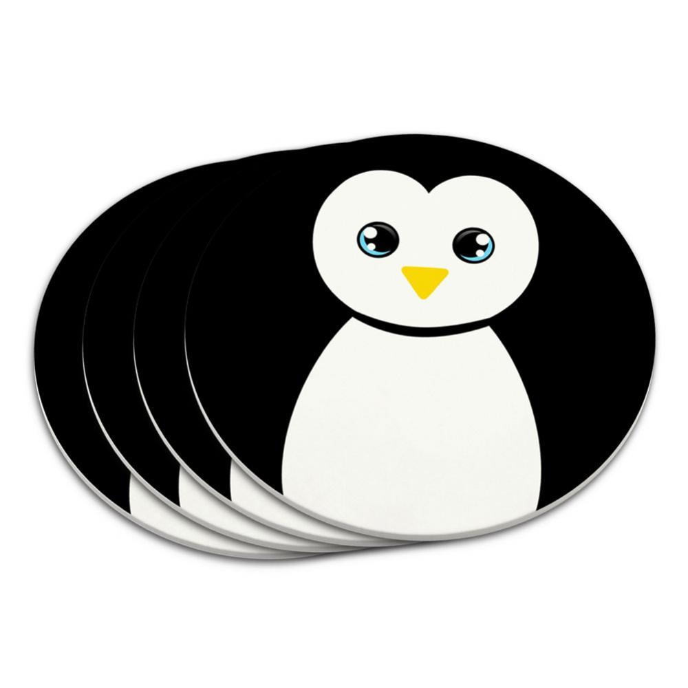 Penguin Black and White Coaster Set