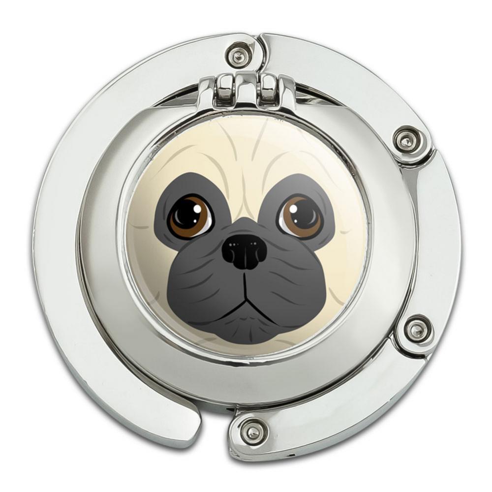Pug Face Pet Dog Purse Hanger Hook