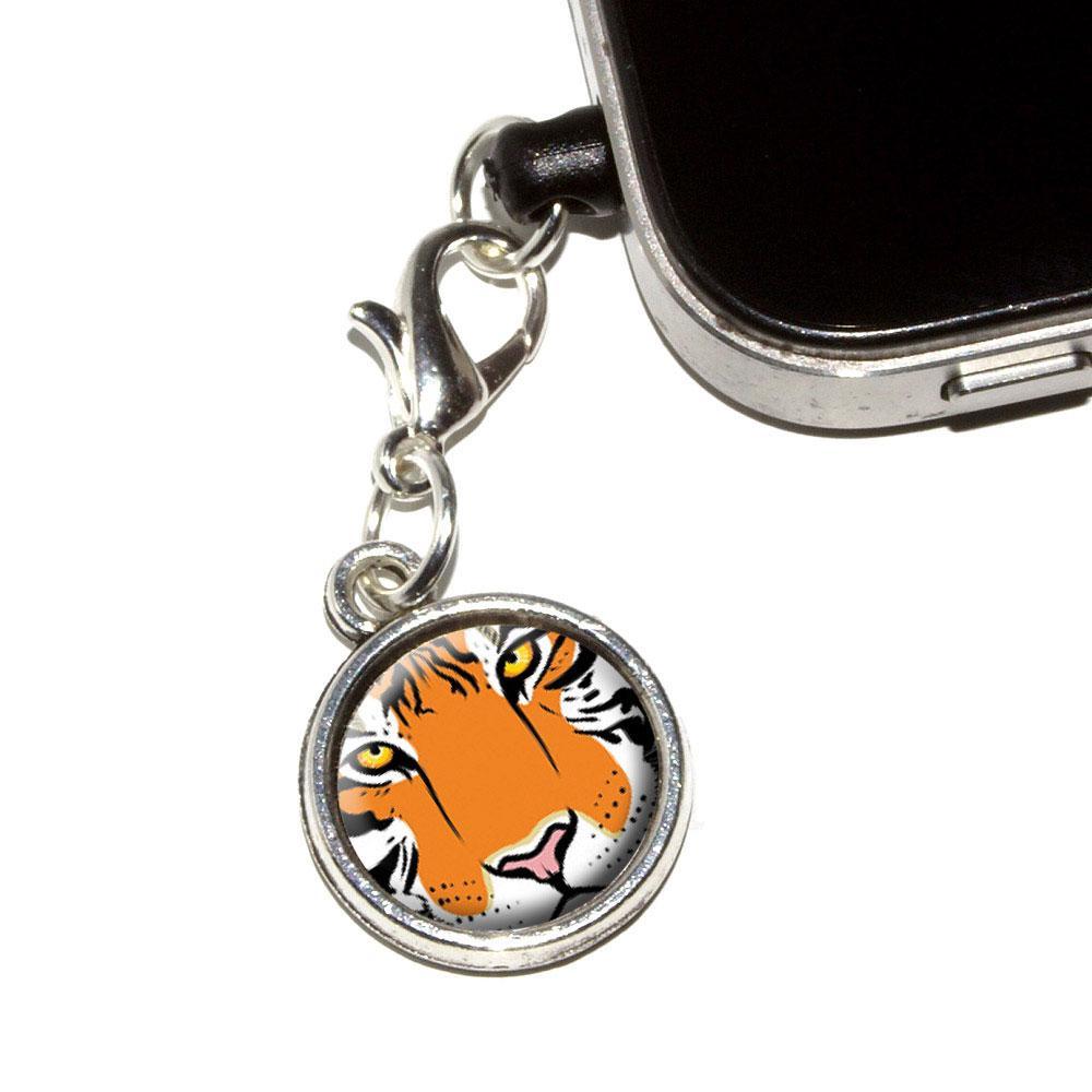 Tiger Face - Safari Big Cat Mobile Phone Charm