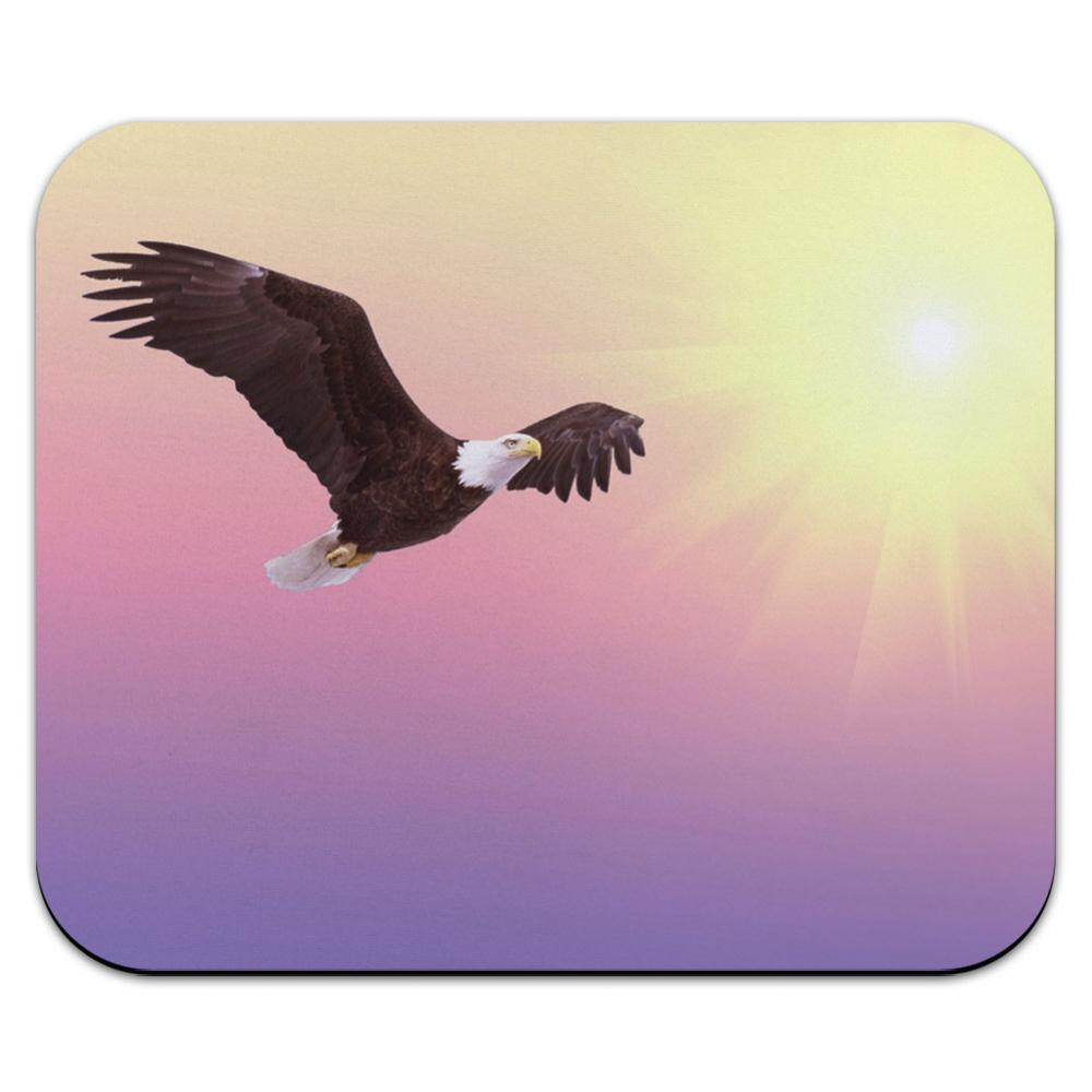 Bald Eagle Soaring the Sky - Sunset Sunrise American Mouse Pad