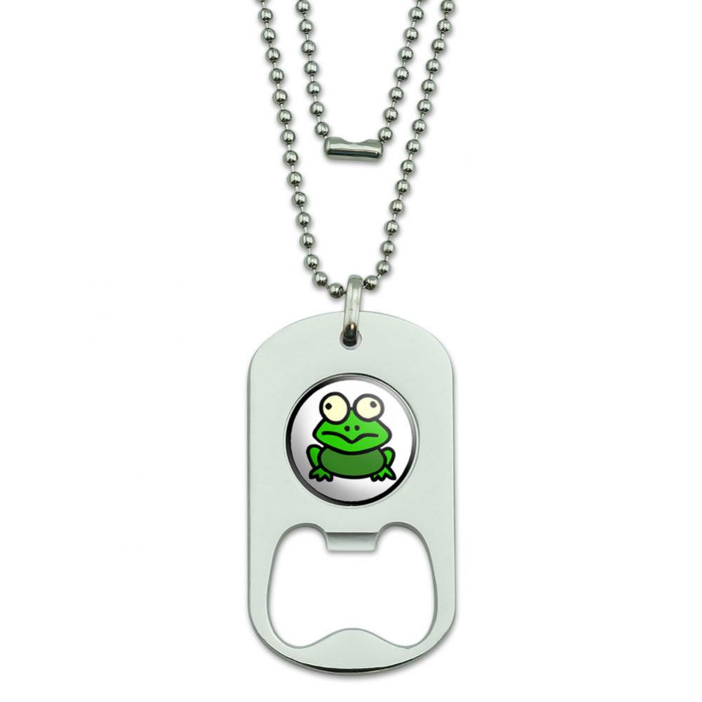 Frog Toad Dog Tag Bottle Opener
