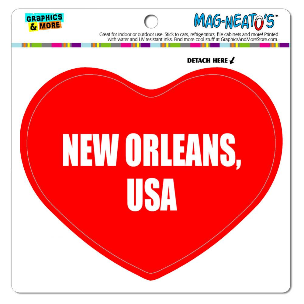 I Love Heart - City Country - New Orleans USA - MAG-NEATO'S(TM) Vinyl Magnet