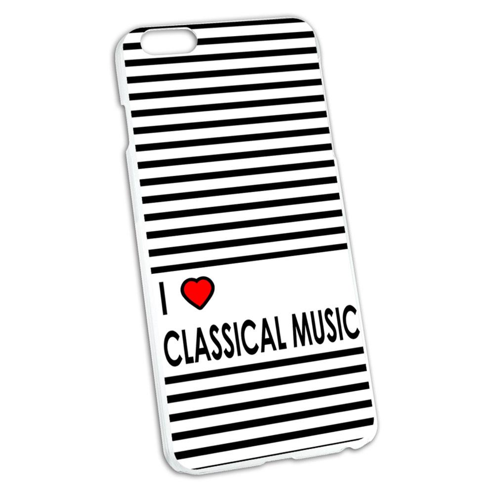 I Love Heart Classical Music Snap On Hard Protective Case for Apple iPhone 6/6s Plus