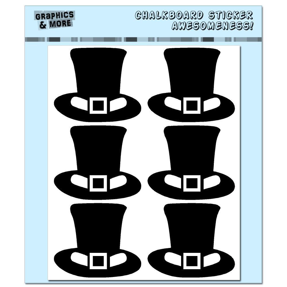 Leprechaun Hat St Patrick's - Irish - 4 Sheets Chalkboard Stickers