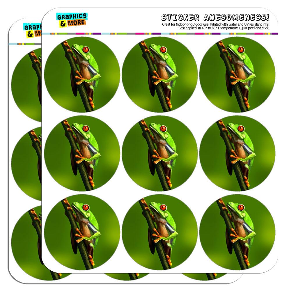 """Tree Frog Red-Eyed 2"""" Scrapbooking Crafting Stickers"""