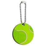 Tennis Ball Wood Round Key Chain