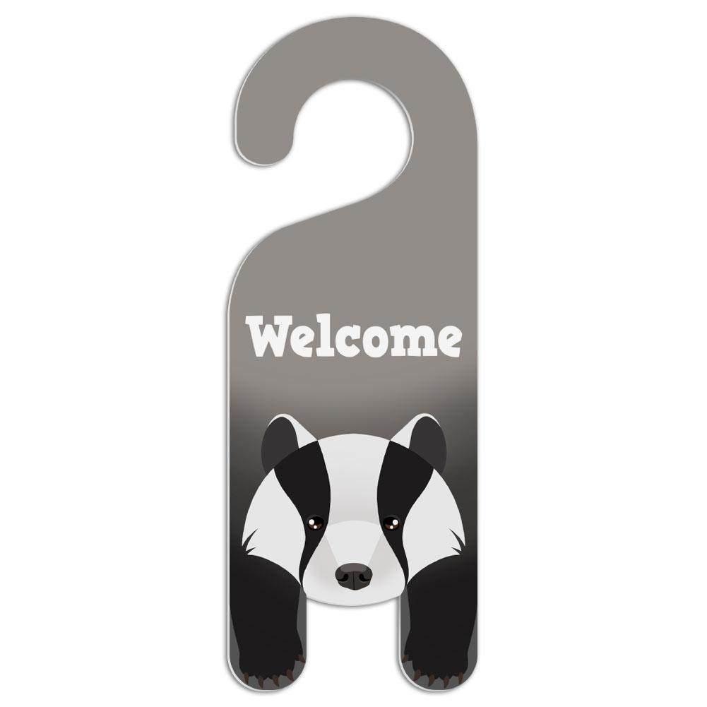 Badger Do Not Disturb Plastic Door Knob Hanger Warning Room Sign ...