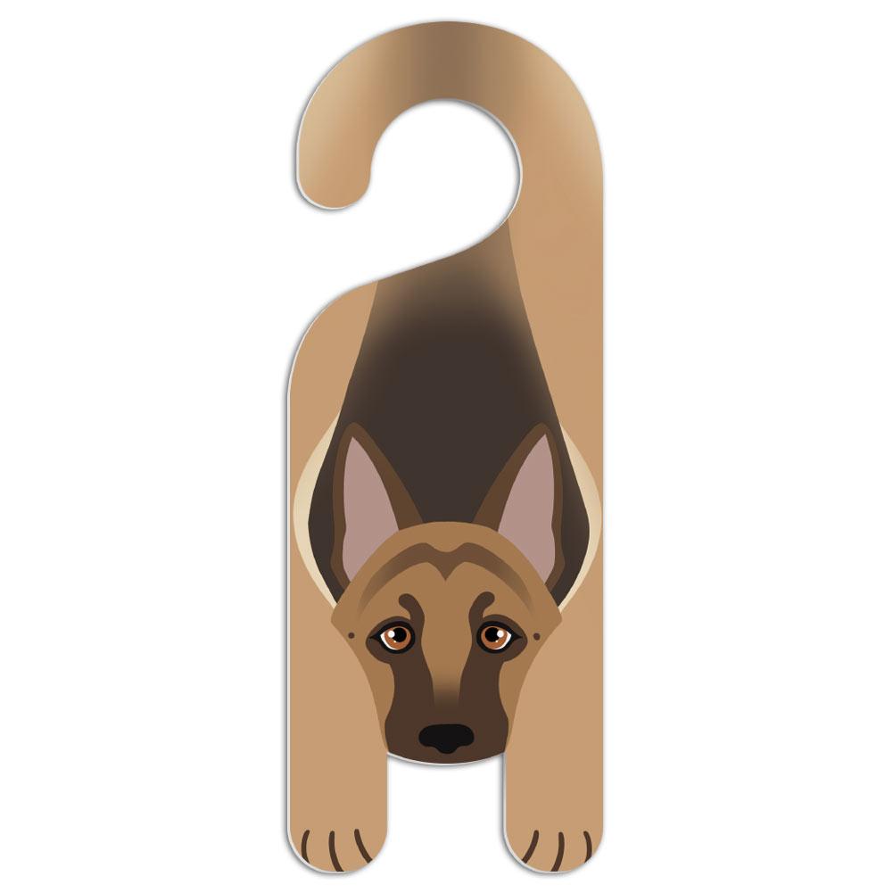 German Shepherd Dog Do Not Disturb Plastic Door Knob Hanger ...
