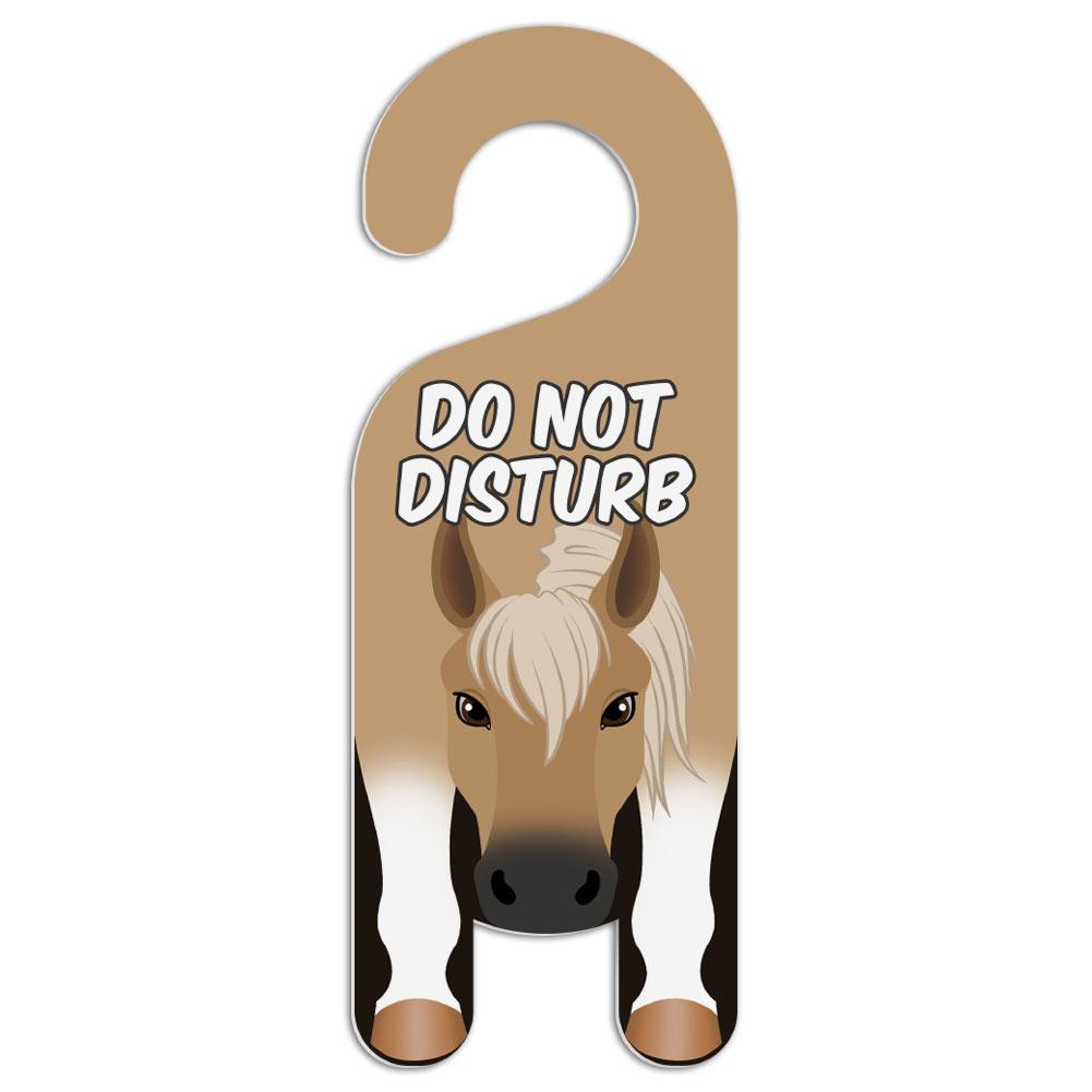 Horse palamino do not disturb plastic door knob hanger warning room sign ebay - Diy do not disturb door hanger ...