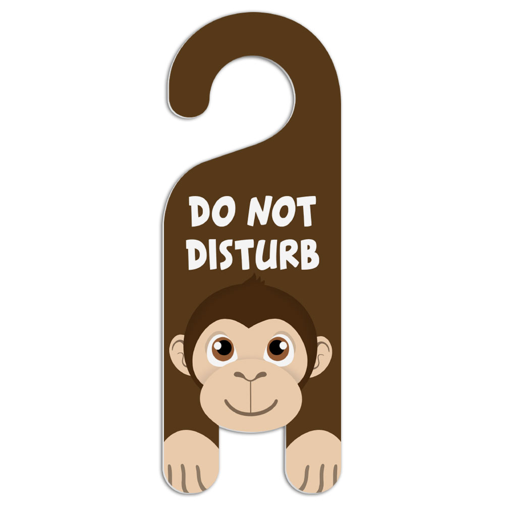 what does the do not disturb on iphone do monkey do not disturb plastic door knob hanger warning 21450