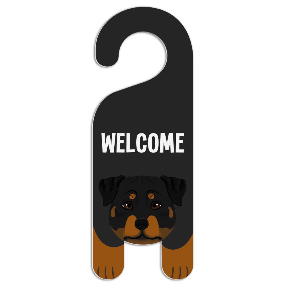Rottweiler Dog Do Not Disturb Plastic Door Knob Hanger Warning ...