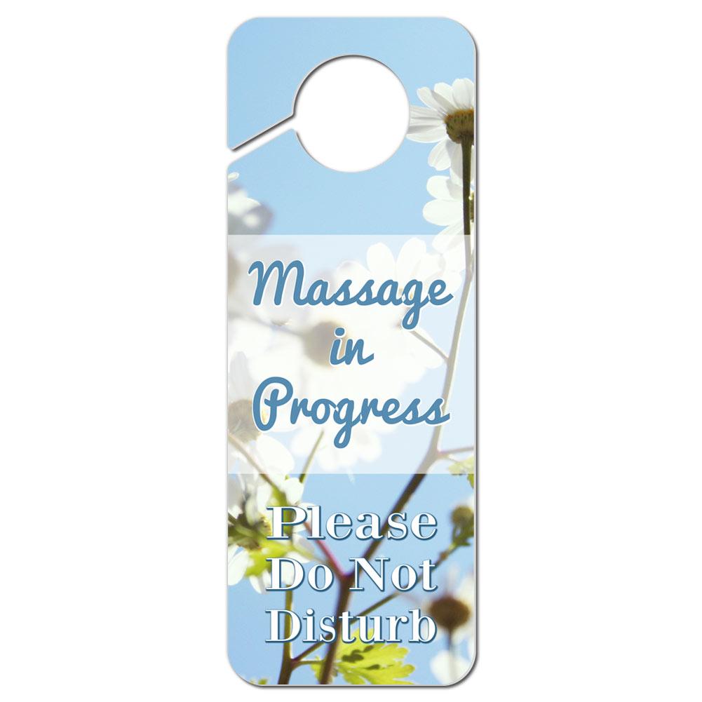 Do Not Disturb Plastic Door Knob Hanger Sign Massage In