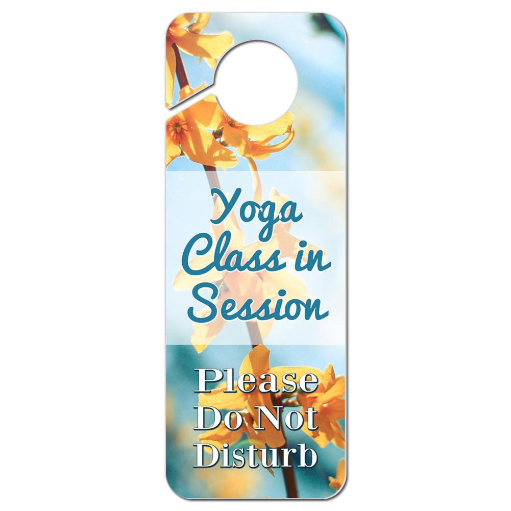 Do Not Disturb Plastic Door Knob Hanger Sign Yoga Class in Session ...