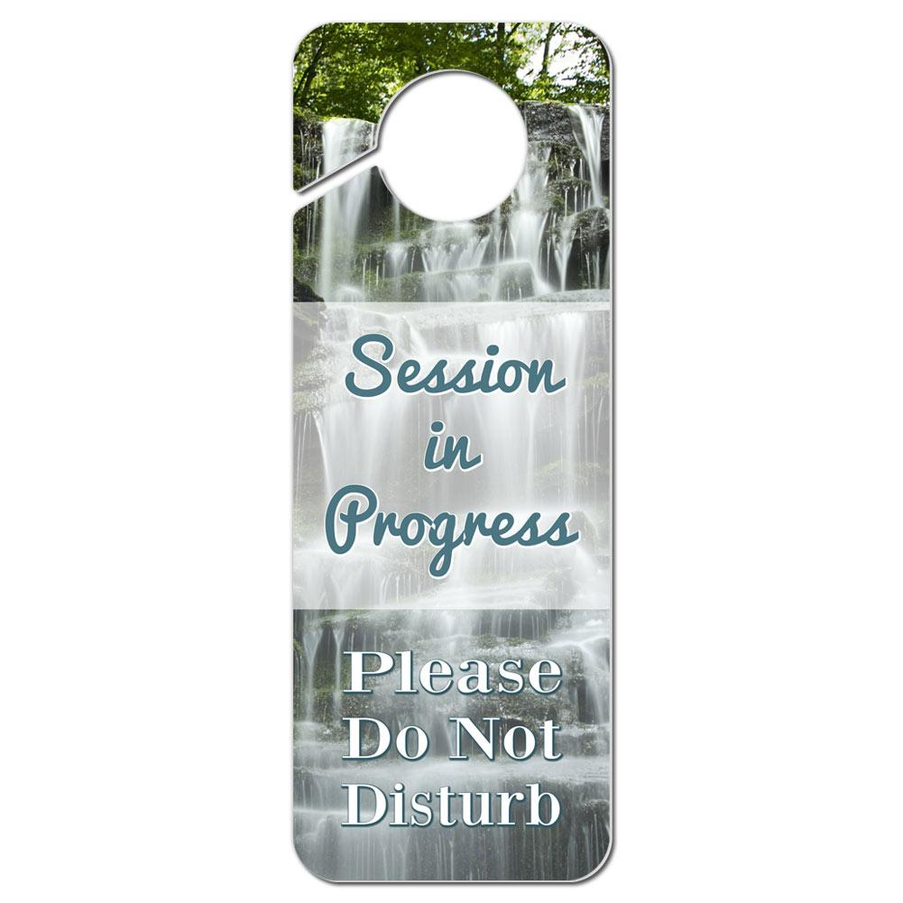 Do Not Disturb Plastic Door Knob Hanger Sign Session in Progress ...