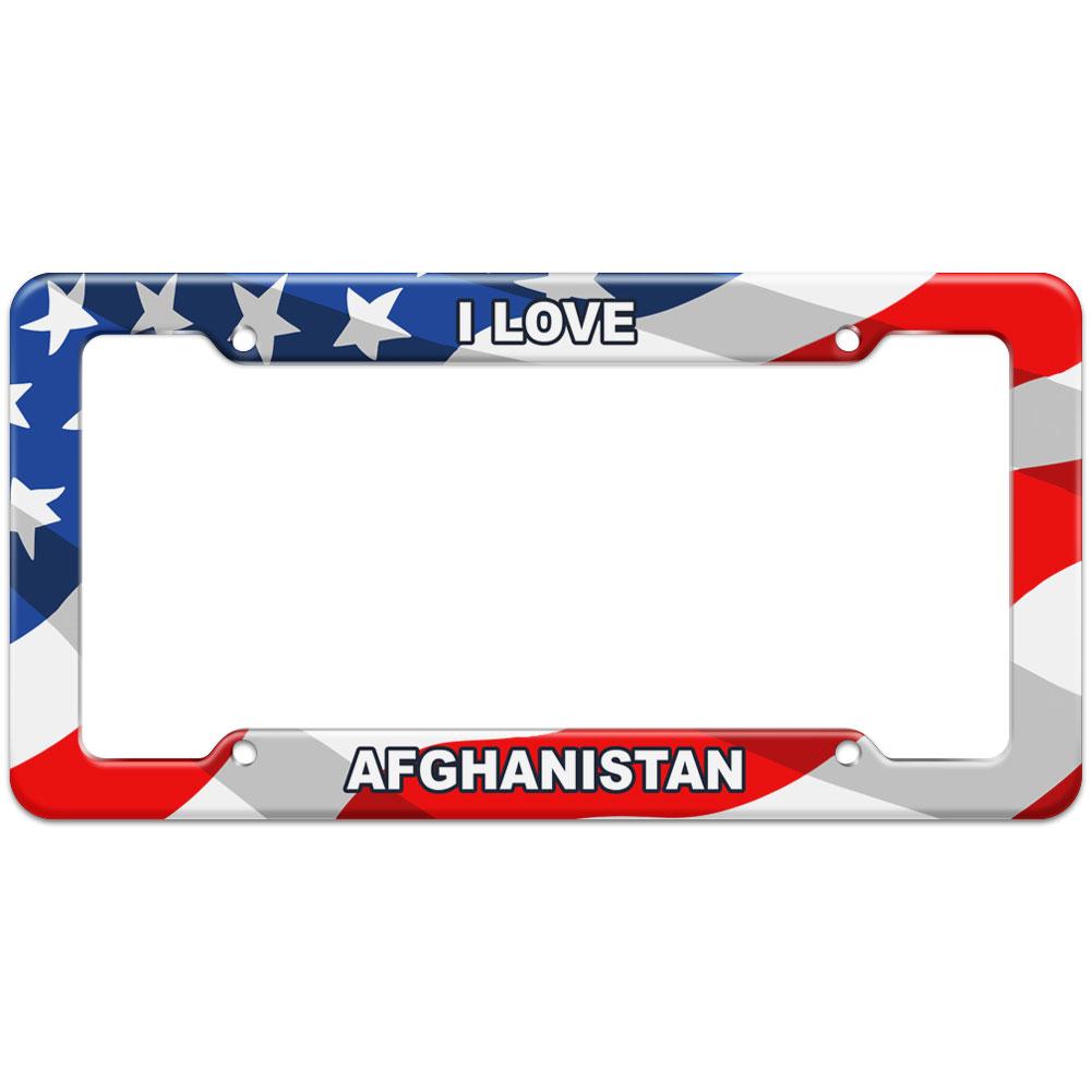 Bandera Americana Marco de Matrícula me encanta país AB-BU   eBay