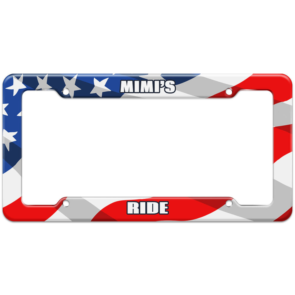 Mimi\'s Ride - Plastic License Plate Frame - Graphics And More