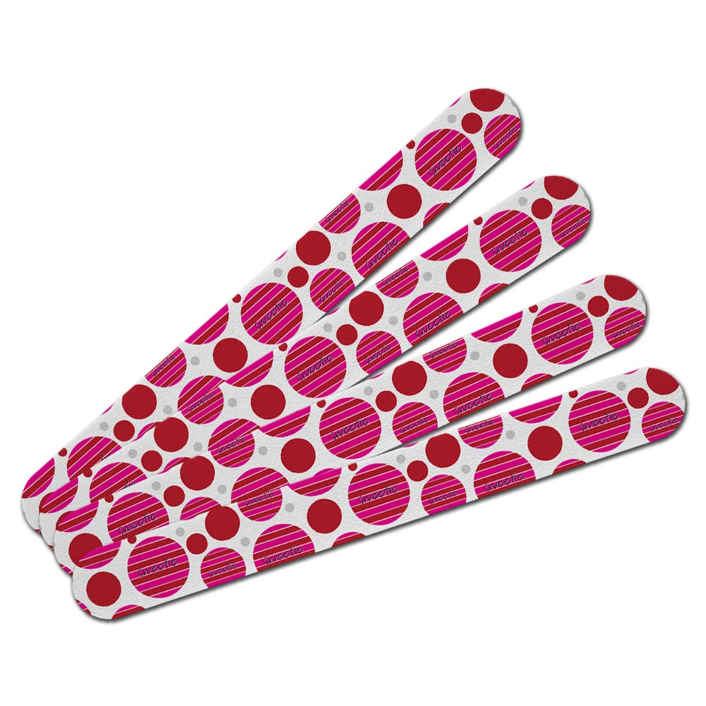Double-Sided Nail File Emery Board Set 4 Pack Holiday Valentine\'s ...