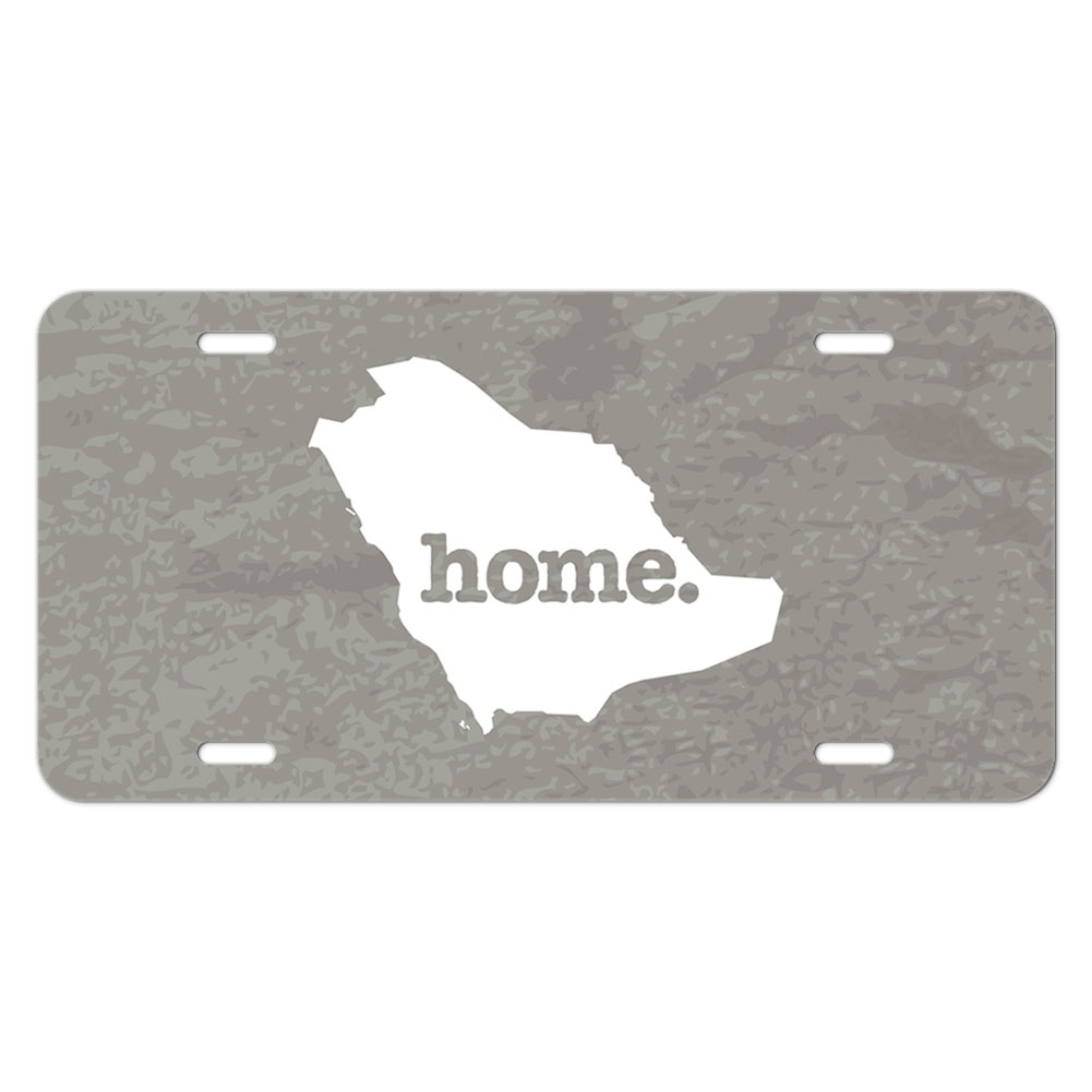 Saudi arabia home country novelty metal vanity license tag for Aluminum kitchen cabinets saudi arabia