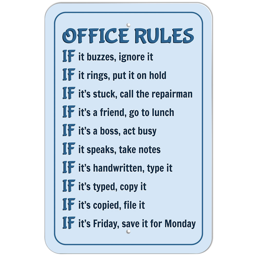 office sign black and white funny sign office decor 5 x 7 |Funny Signs Office Secretary
