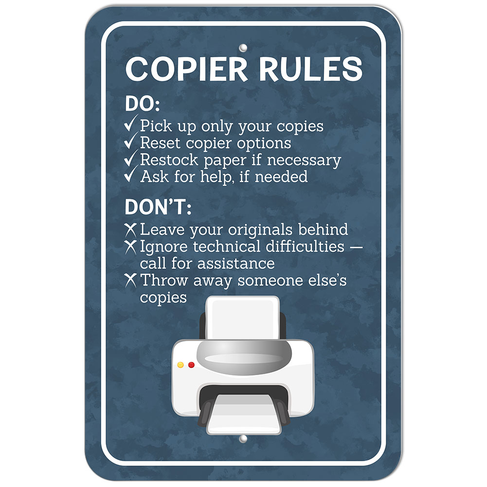 Plastic Sign Copier Rules Office | eBay
