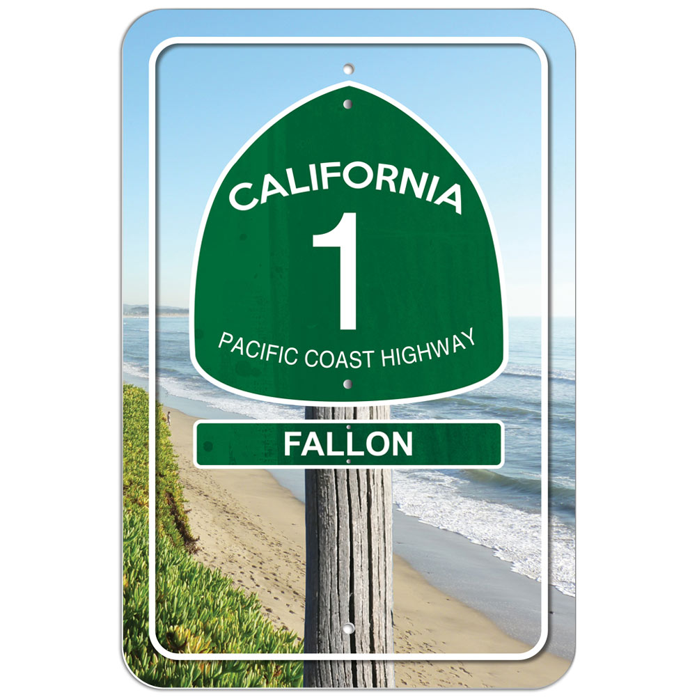California pacific coast highway route 1 plastic sign ca for Home decor on highway 6